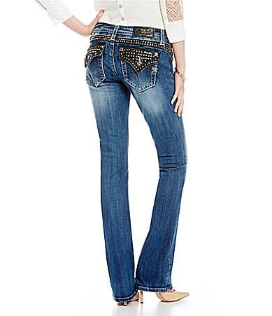 Miss Me Stud-Embellished Slim Bootcut Jeans