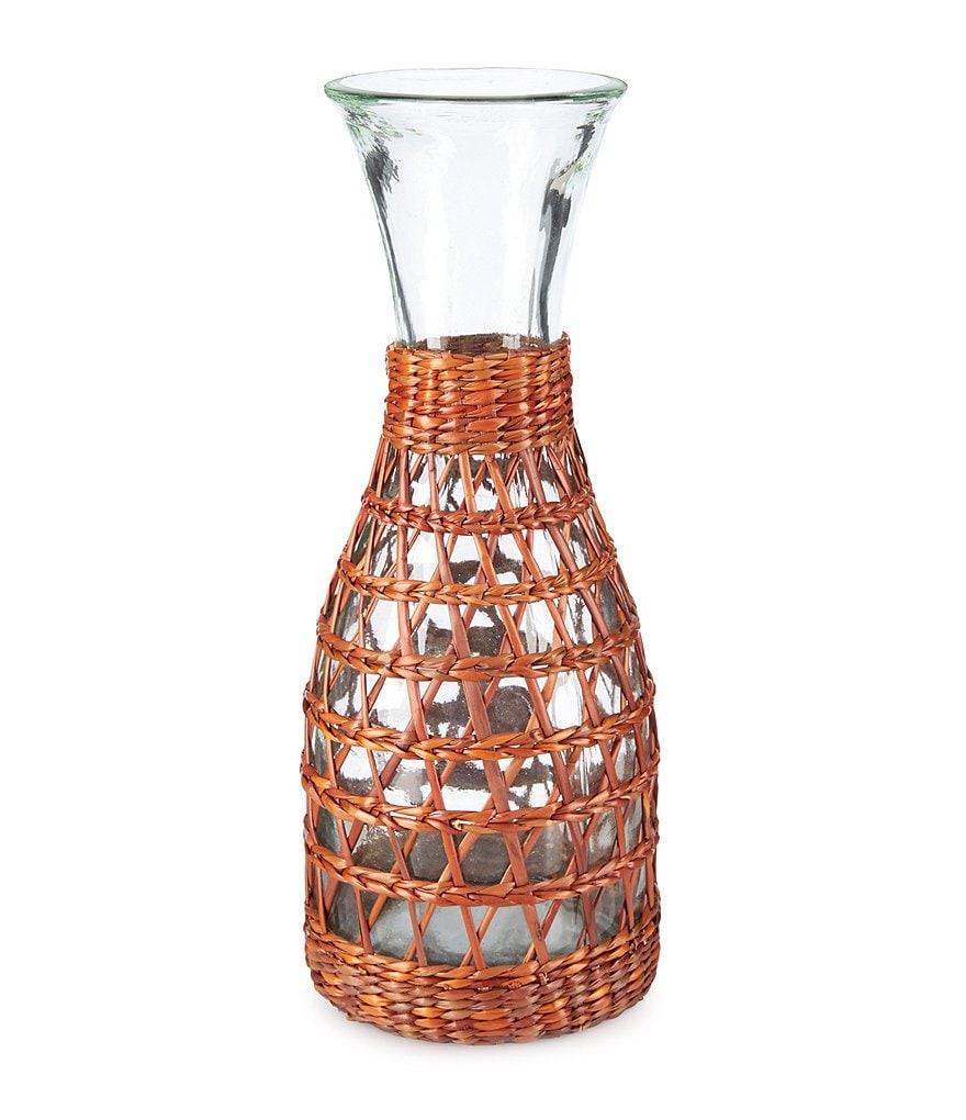 Southern Living Rattan Collection Barbados Recycled Glass Carafe