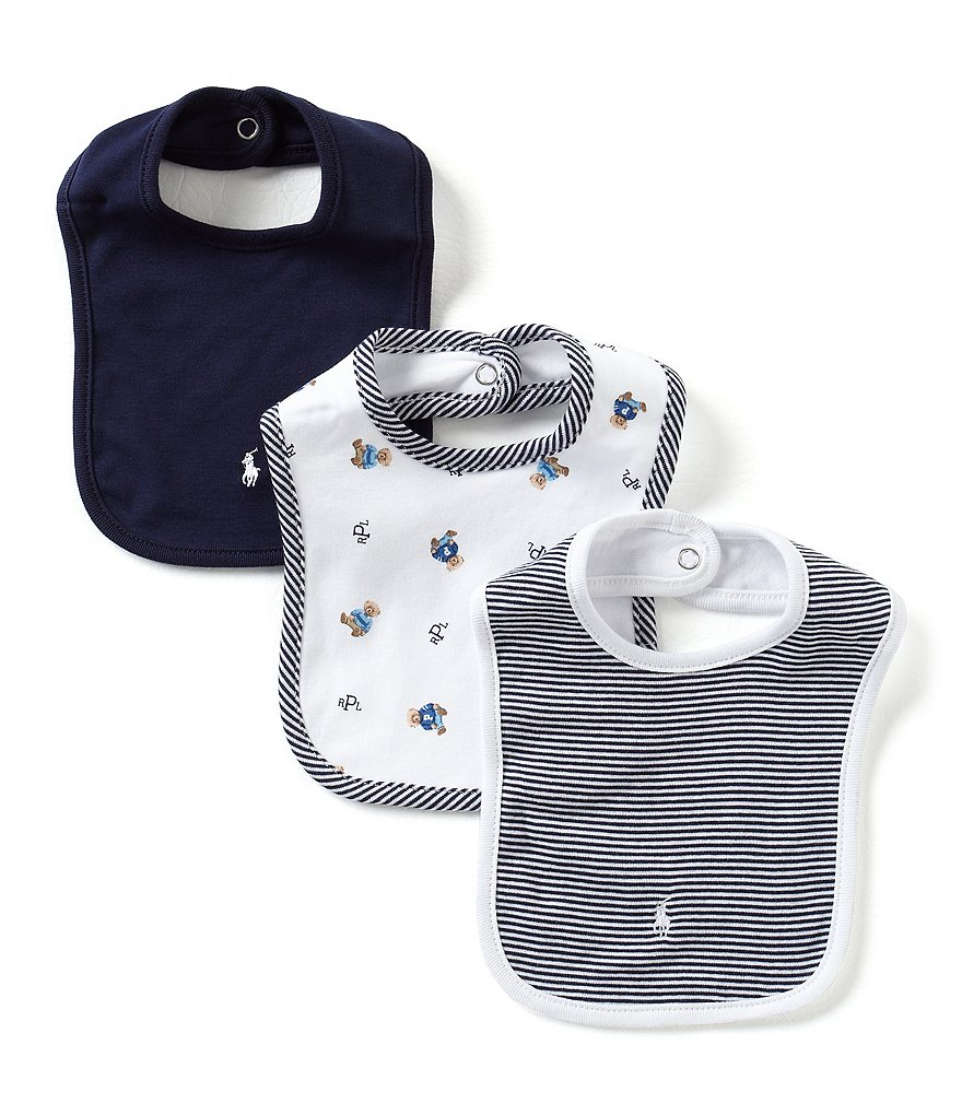Ralph Lauren Childrenswear 3-Pack Bib Set