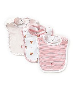 Ralph Lauren Childrenswear 3-Pack Bear Bib Set Image
