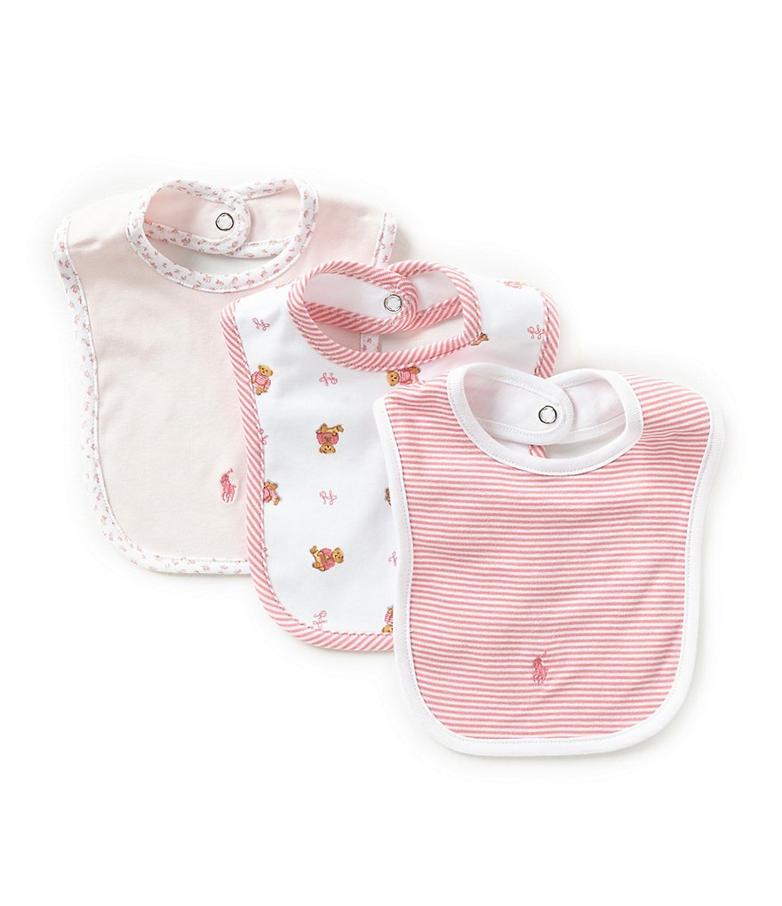 Ralph Lauren Childrenswear 3-Pack Bear Bib Set
