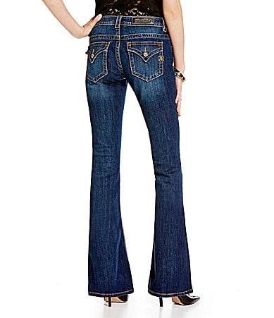 Miss Me Mid-Rise Flare Jeans