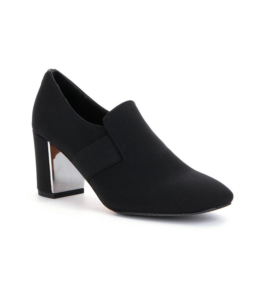 Donald J Pliner Clem Crepe Block Heel Shooties