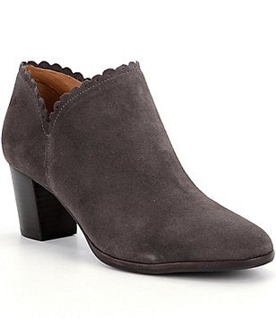 Jack Rogers Marianne Suede Scalloped Booties