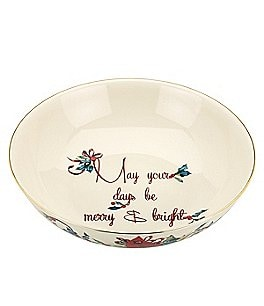 Lenox Winter Greetings May Your Days be Merry and Bright Bowl Image