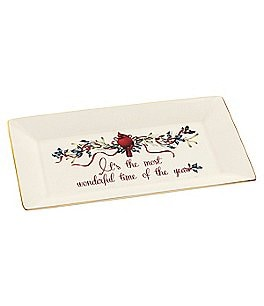 Lenox Winter Greetings Rectangular Platter, It´s the Most Wonderful Time of the Year Image