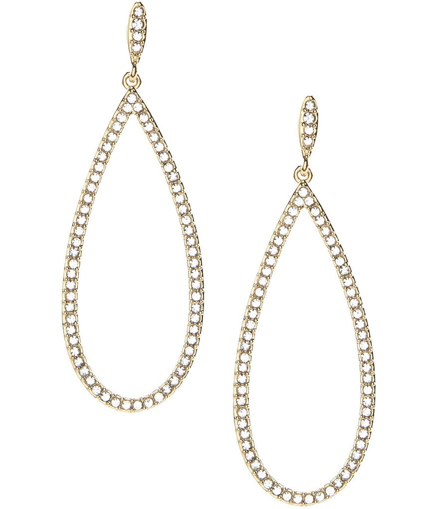 Nadri Open Teardrop Pavé Earrings