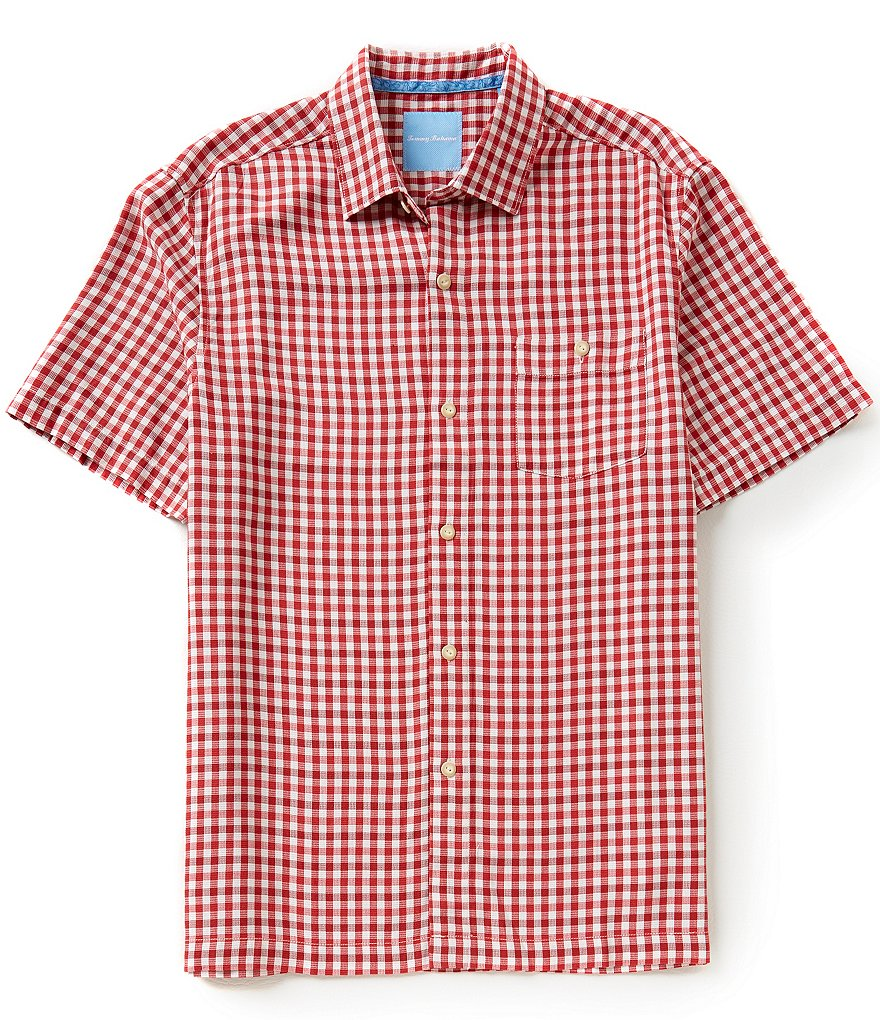 Tommy Bahama Short-Sleeve G´Day Gingham Woven Shirt