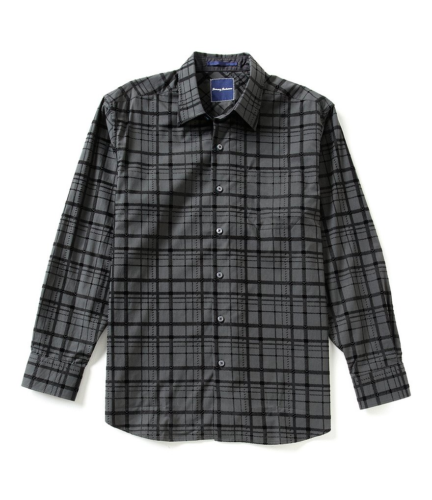Tommy Bahama Plaid Flock This Way Long-Sleeve Woven Shirt
