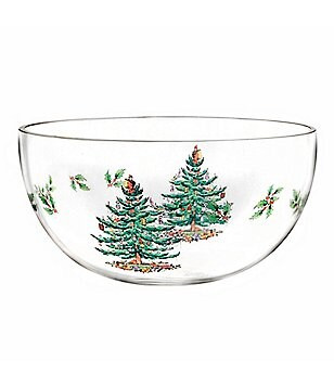 Spode Christmas Tree Glass Serving Bowl