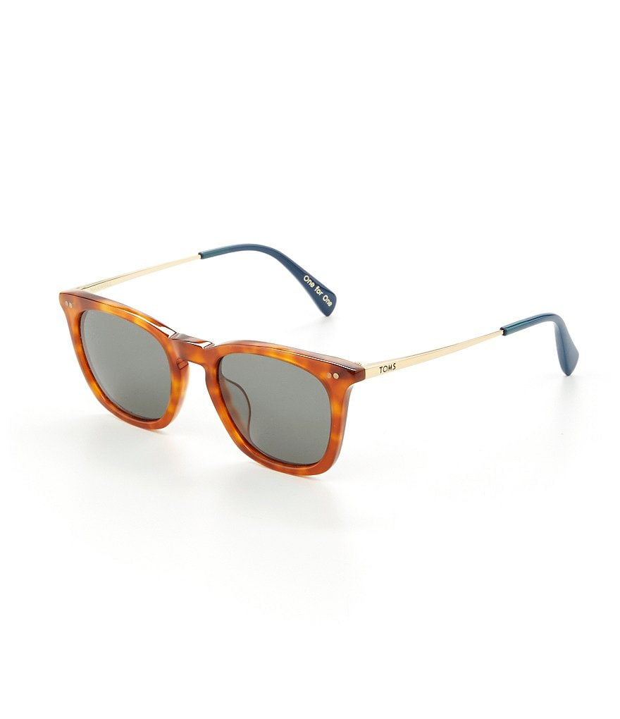 TOMS Maxwell Honey Tortoise Wayfarer Sunglasses