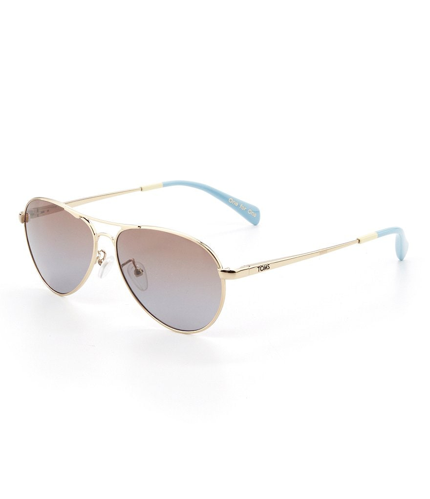 TOMS Kilgore Gold Aviator Sunglasses