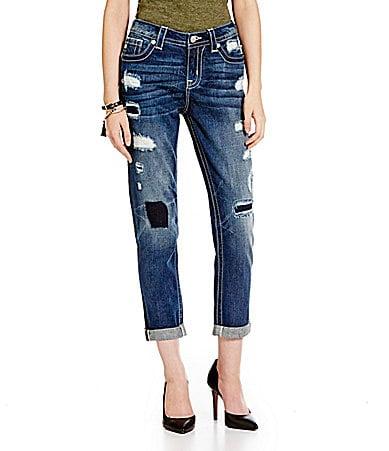 Miss Me Distressed Ankle Boyfriend Jeans