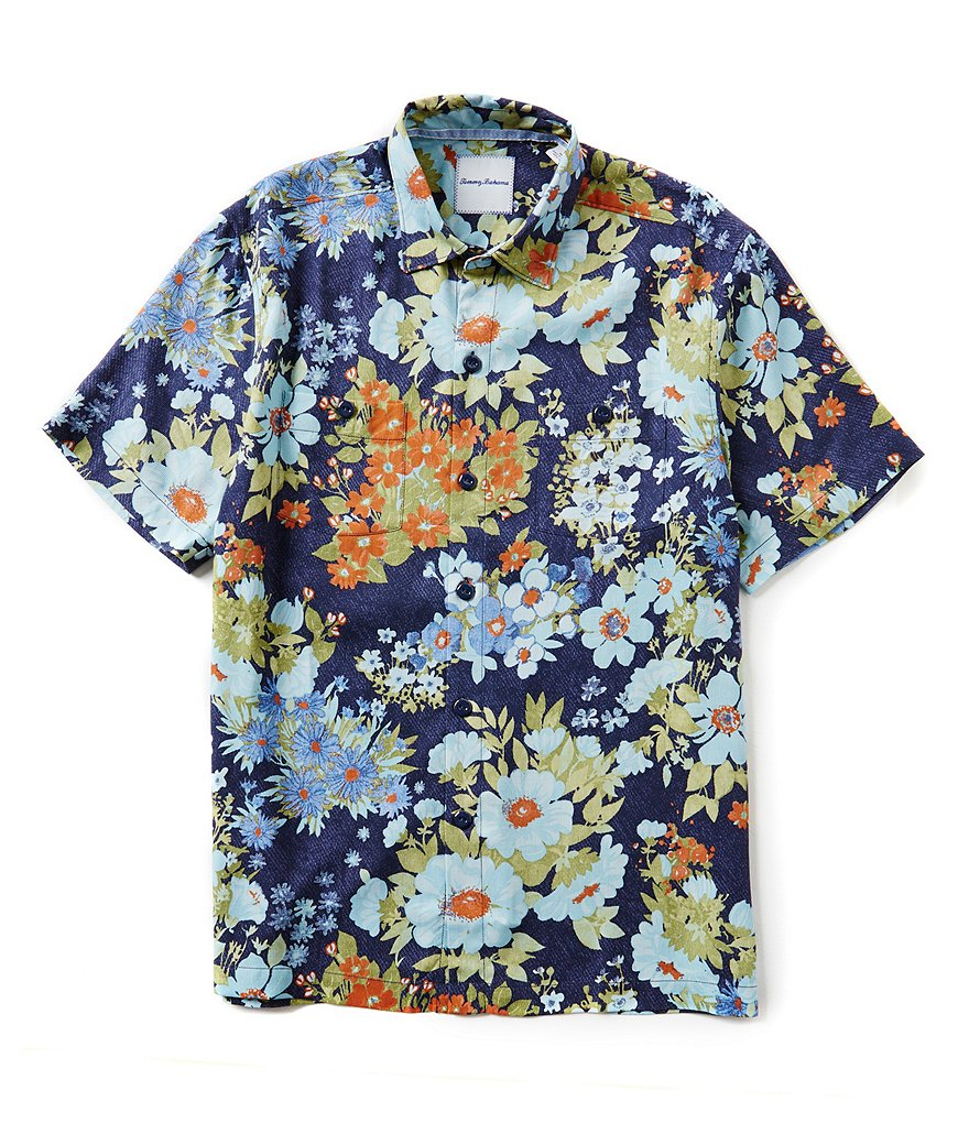 Tommy Bahama Short-Sleeve Yarra Valley Floral Woven Shirt