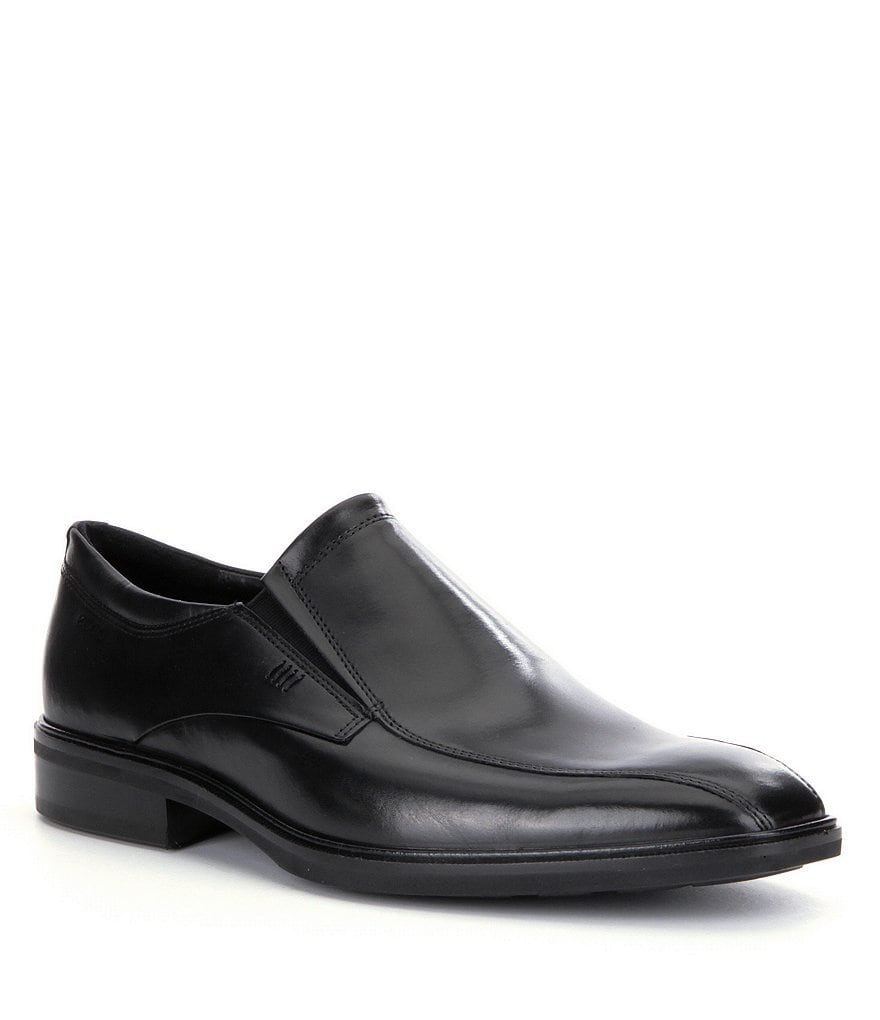 ECCO Illinois Bike-Toe Leather Slip On Dress Shoes