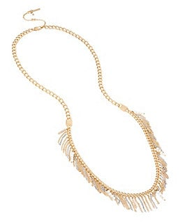 Kenneth Cole New York Mixed Two-Tone Fringe Long Station Necklace Image