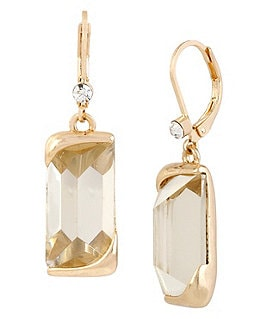 Kenneth Cole New York Faceted Stone Drop Earrings Image
