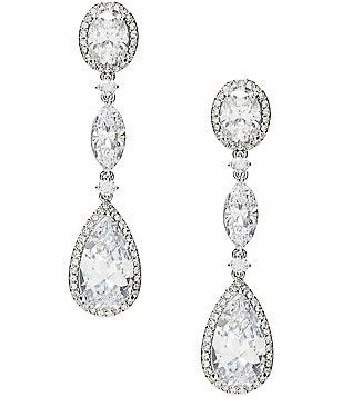 Nadri Oval Cubic Zirconia Drop Earrings