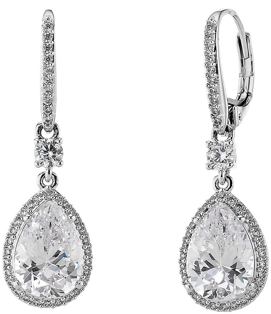 Nadri Cubic Zirconia Mini Drop Earrings