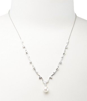 Nadri Pearl Drop Y-Necklace