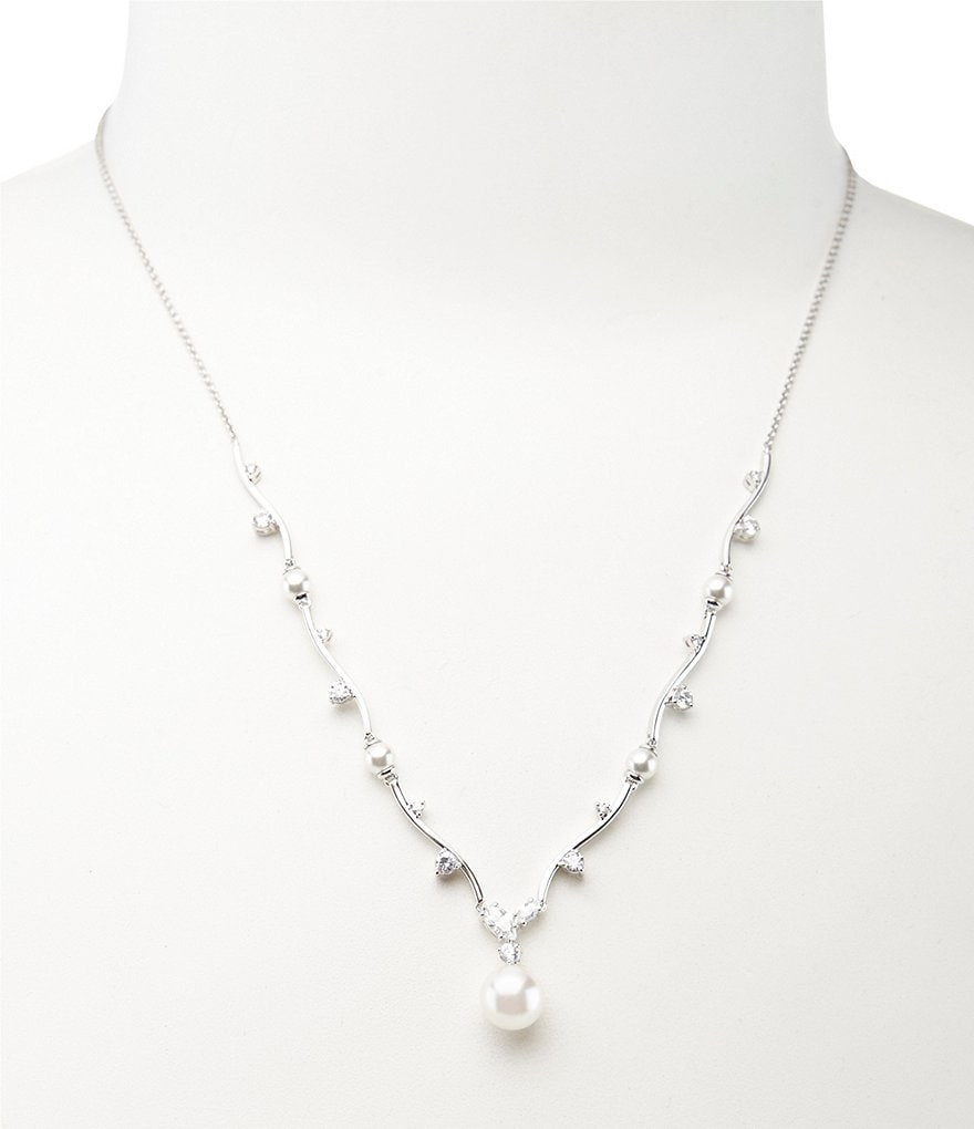 Nadri Faux-Pearl Drop Y-Necklace