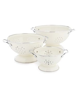 Southern Living Enamel-on-Steel Colanders, Set of 3
