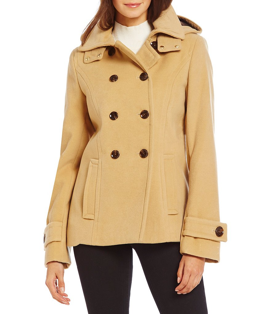 Calvin Klein Peacoat with Detachable Hood