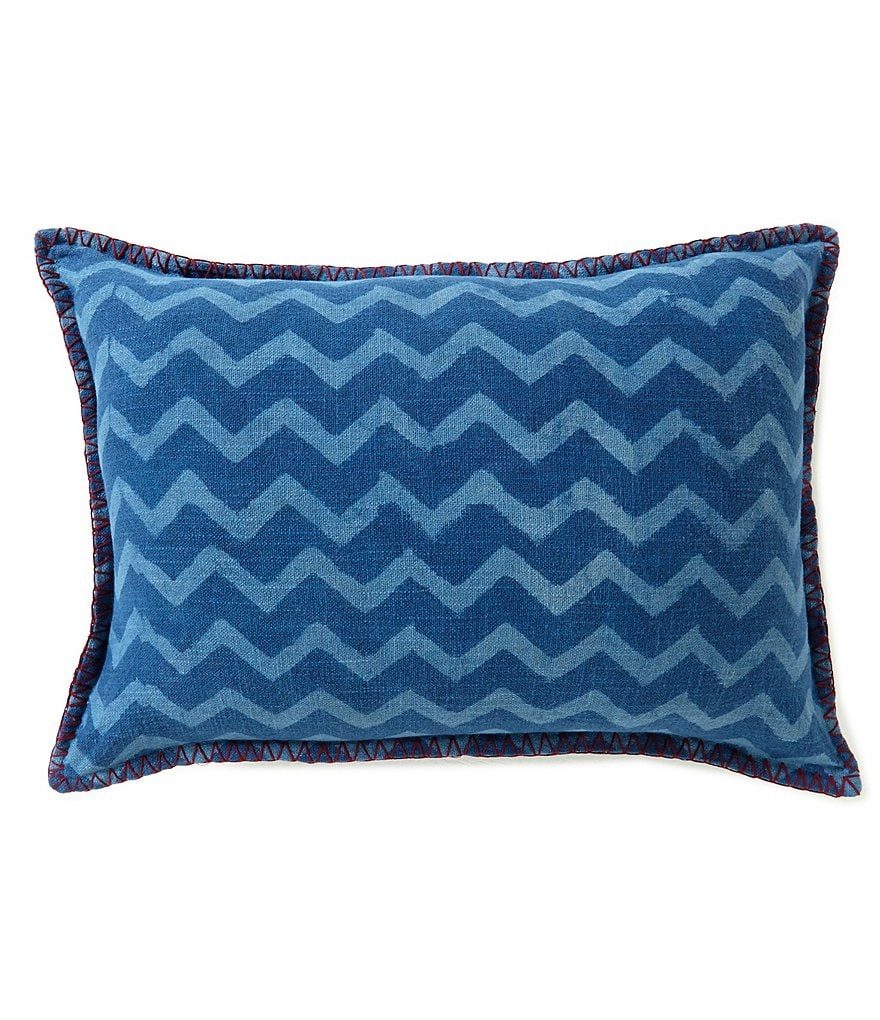 Studio D Falalal Chevron-Striped Oblong Pillow