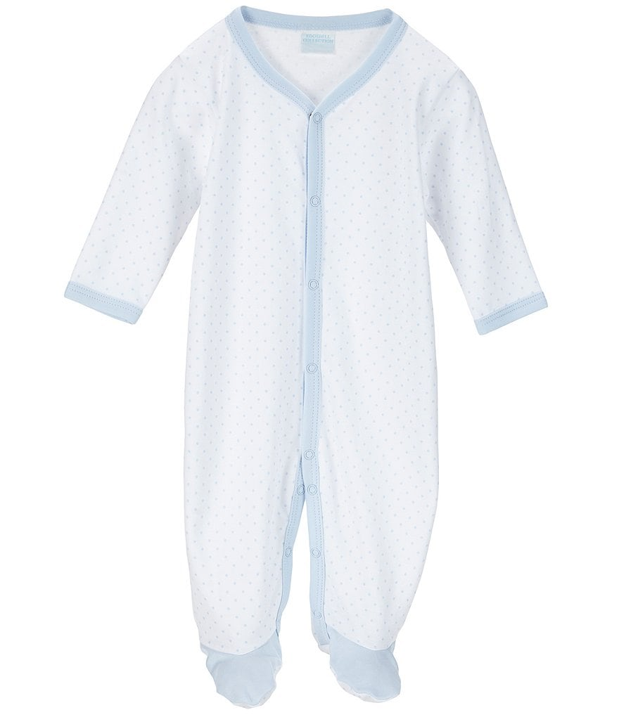 Edgehill Collection Baby Boys Newborn-6 Months Dotted Footed Coverall