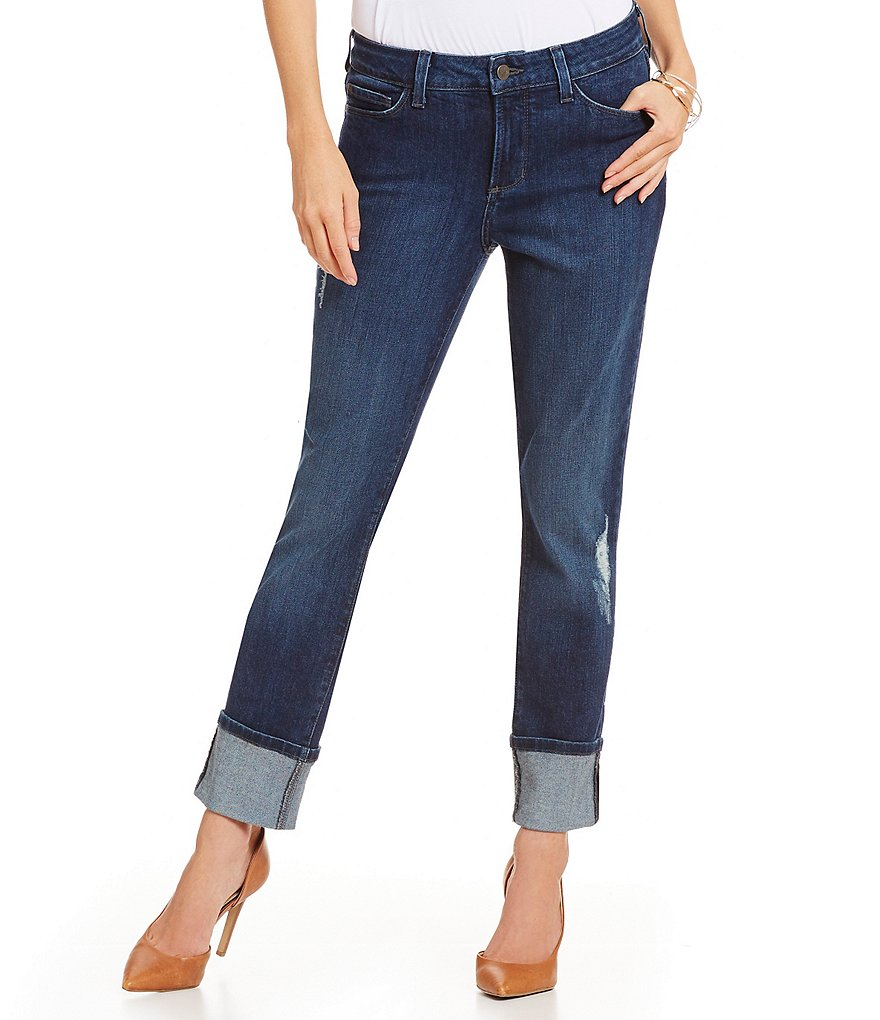 NYDJ Lorena Destructed Boyfriend Jeans