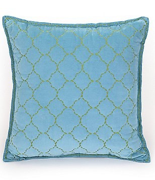 Jessica Simpson Amrita Quatrefoil-Embroidered Square Pillow