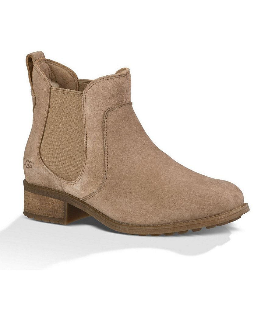 UGG® Bonham Chelsea Water-resistant Leather and Suede Booties