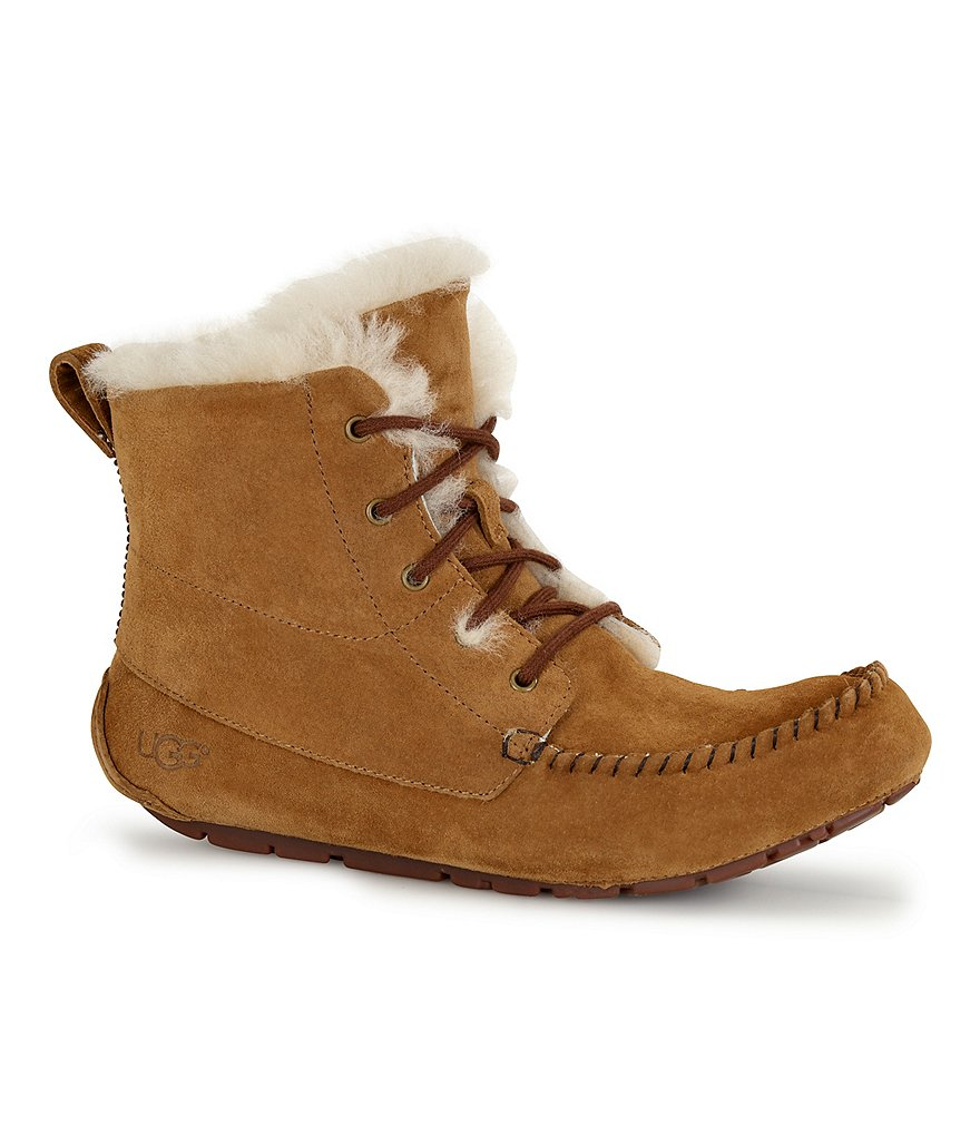 UGG® Chickaree Water-Resistant Lace Up Moccasin Booties