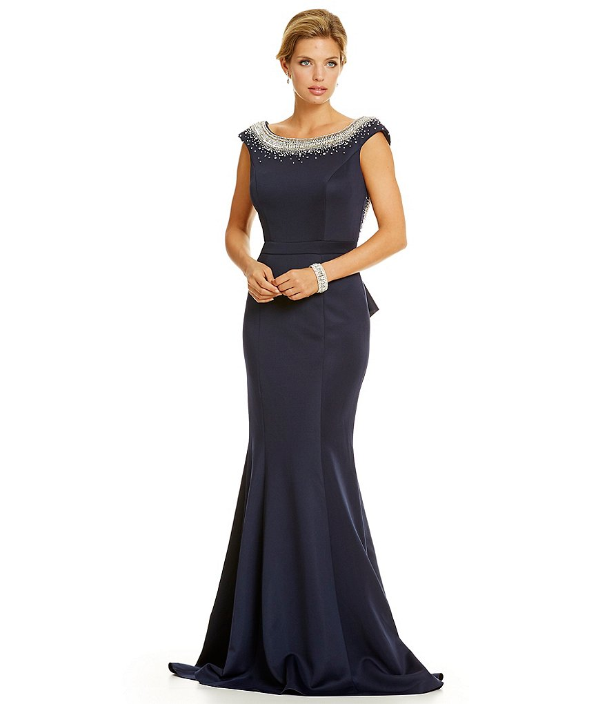 Terani Couture Crystal Scoop Back Gown