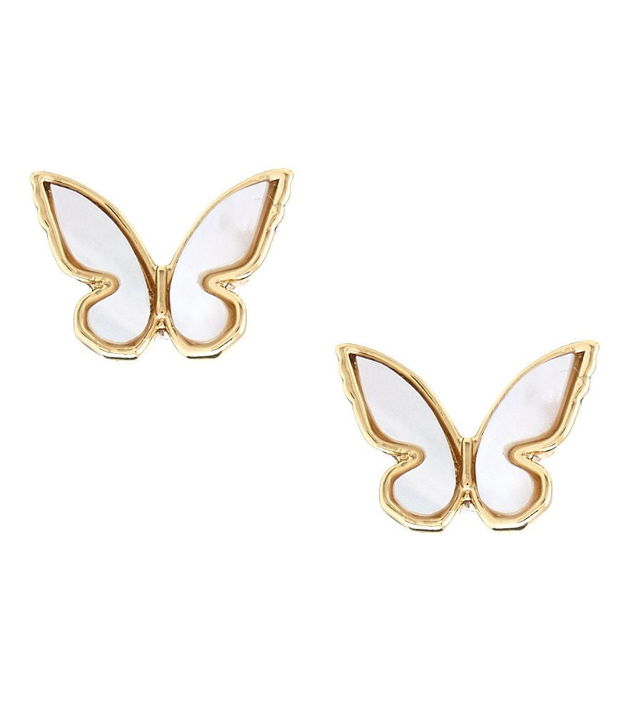 kate spade new york All A Flutter Mother-of-Pearl Stud Earrings
