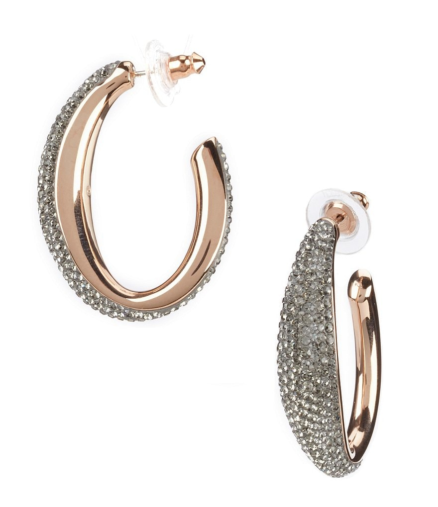 Swarovski Circlet Large Hoop Earrings