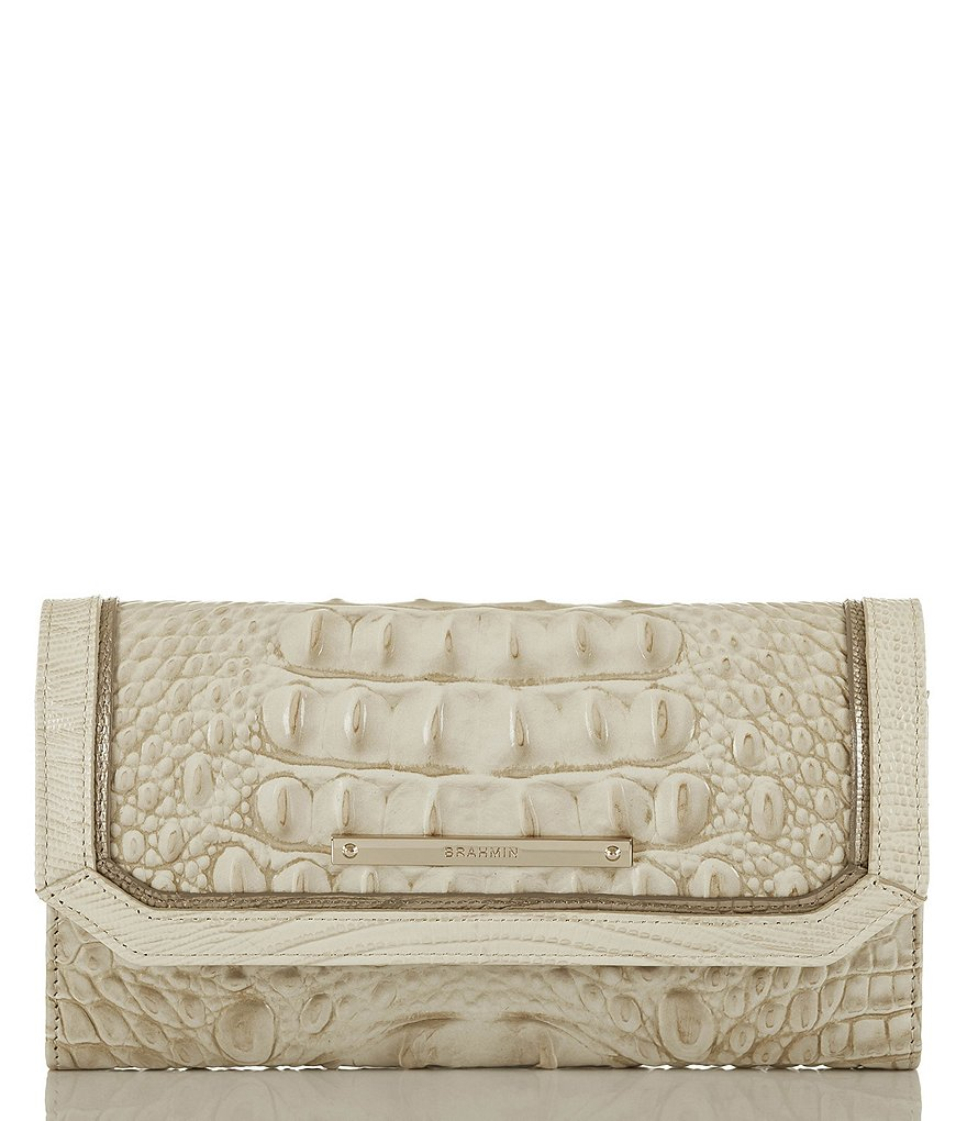 Brahmin Tri Texture Collection Croco-Embossed Soft Checkbook Wallet