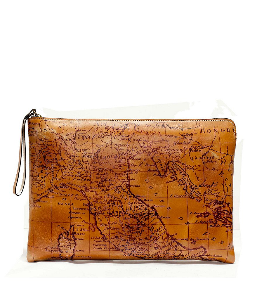 Patricia Nash Signature Map Collection Braga Portfolio Tech Pouch