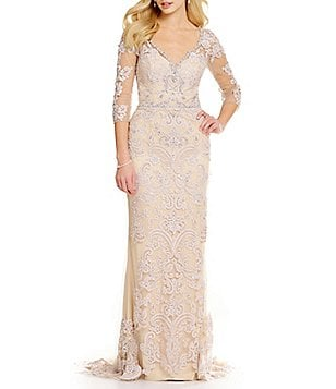 Lasting Moments Beaded Lace Gown