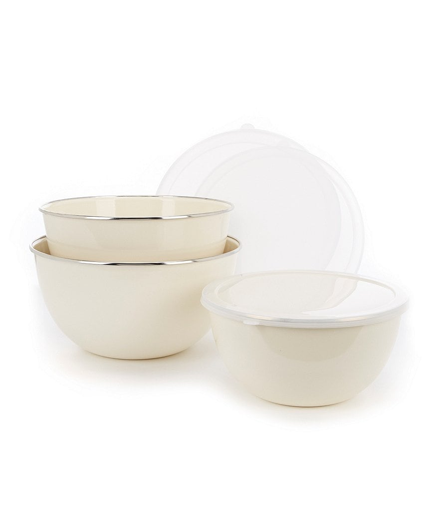 Southern Living Mixing Bowls with Lids, Set of 3