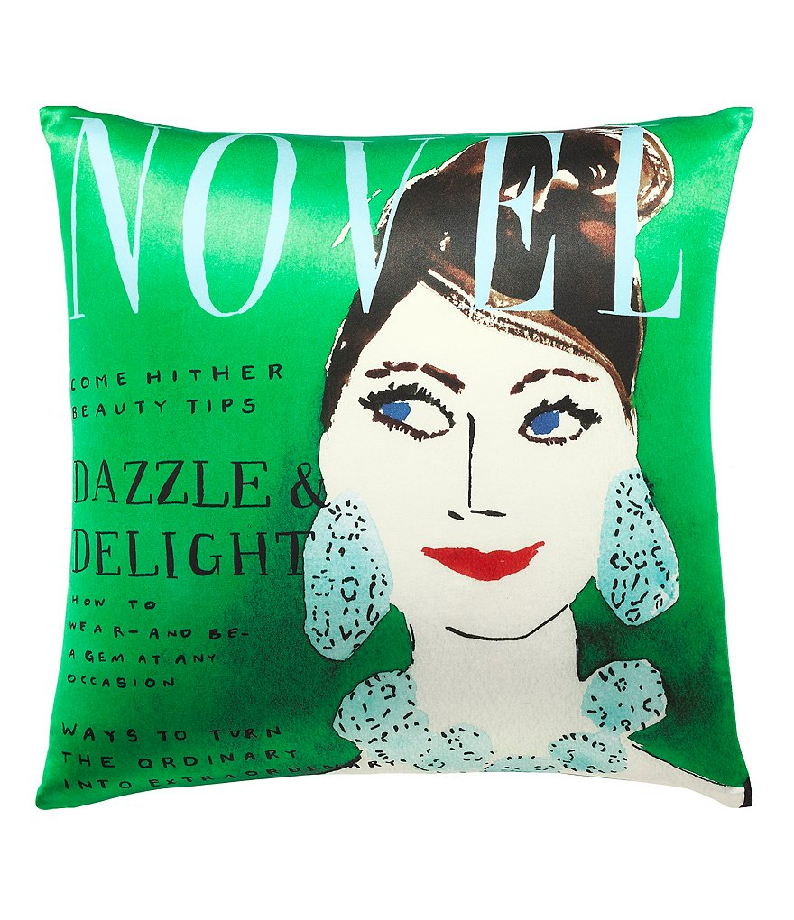 kate spade new york Dazzle & Delight Magazine Cover Silk & Cotton Square Feather Pillow