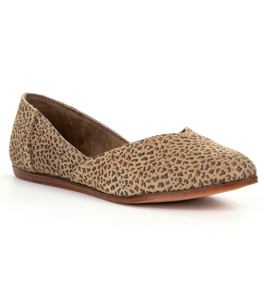 TOMS Jutti Cheetah-Print Pointed-Toe Women´s Flats