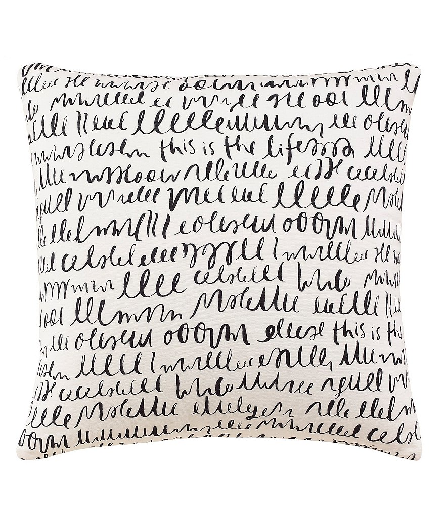 kate spade new york This is the Life Written Word Square Pillow