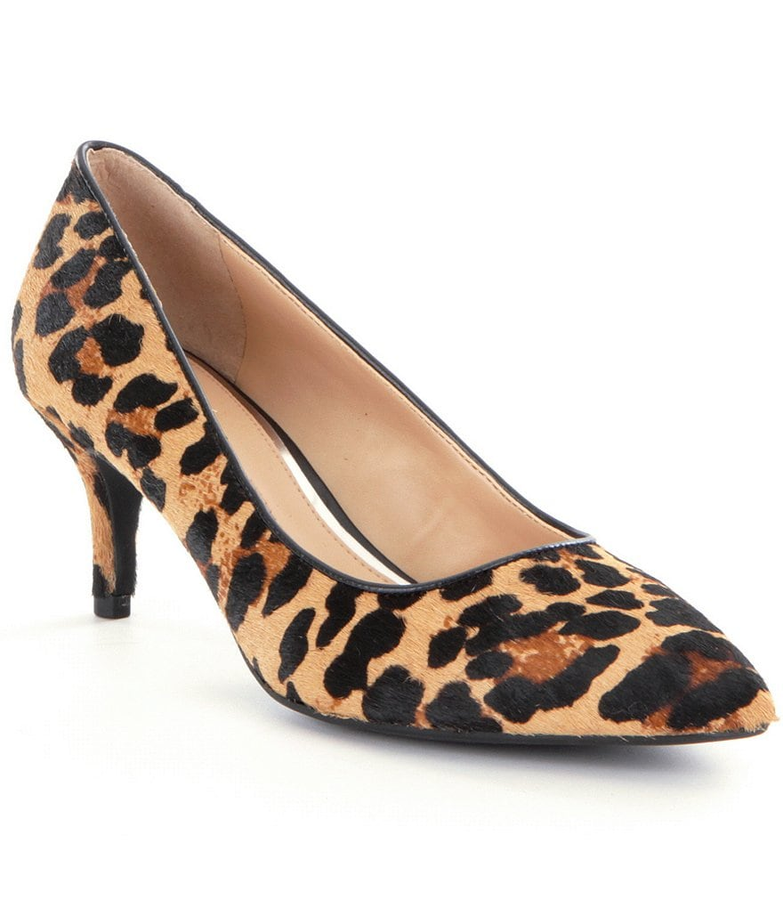 Gianni Bini Treasa Leopard-Print Pointed-Toe Pumps