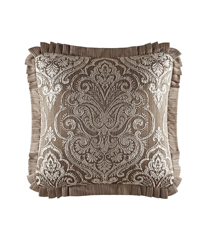 J. Queen New York Stafford Pleated Damask Jacquard Square Pillow