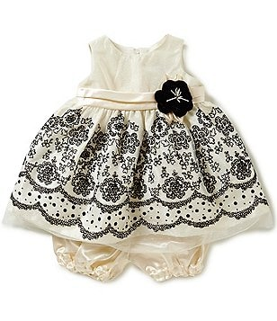 Jayne Copeland Baby Girls 12-24 Months Flocked-Border Dress