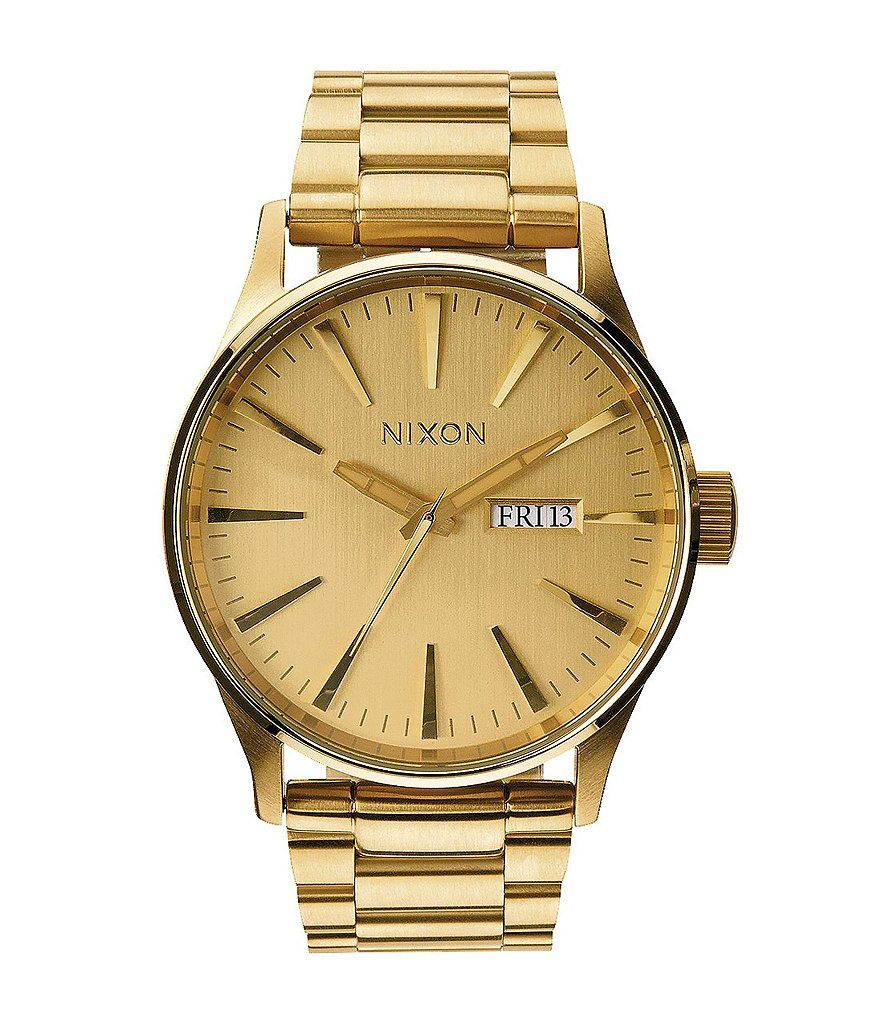 Nixon The Sentry Stainless Steel 3 Hand Bracelet Watch