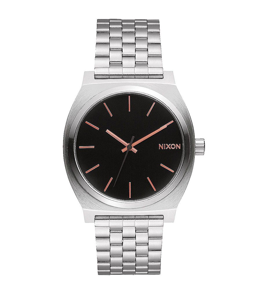 Nixon The Time Teller Stainless Steel 3 Hand Bracelet Watch