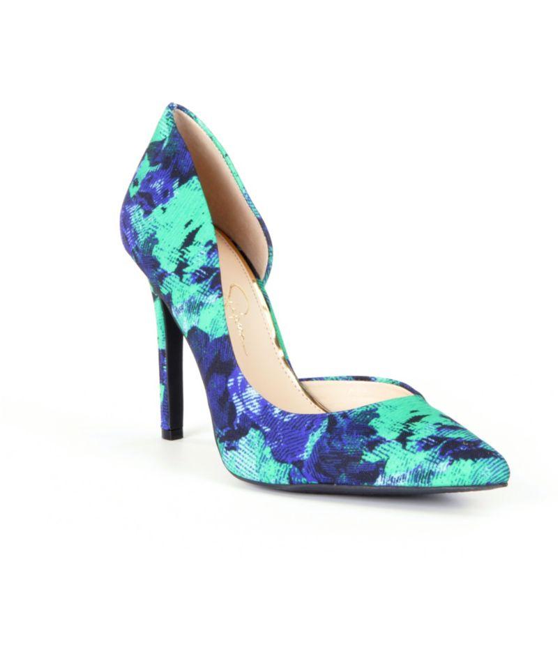 Jessica Simpson Claudette Floral Pointed-Toe d´Orsay Pumps