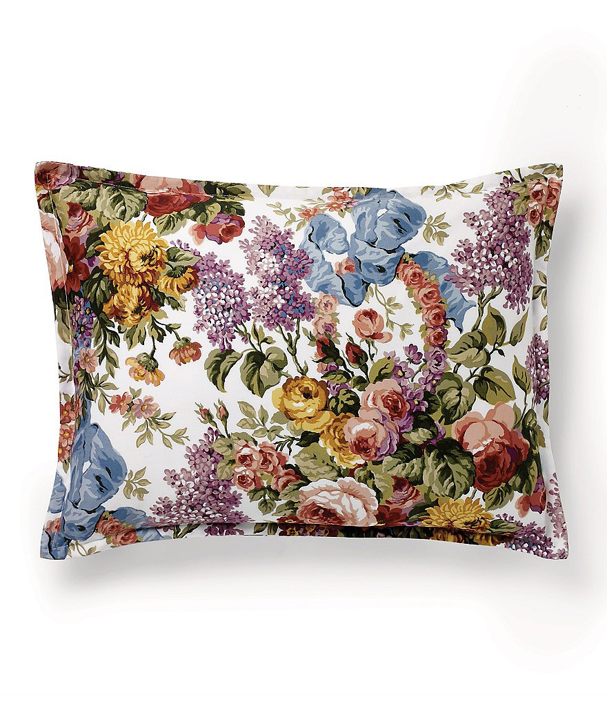 Ralph Lauren Allison Floral Sateen Boudoir Pillow